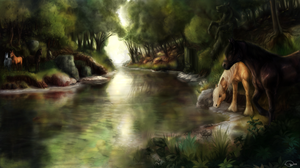 """The magical pond  """"The Enchanted Spring"""" by Shalinka"""