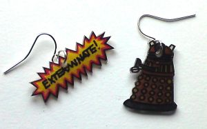 Kawaii Dalek earrings by Lovelyruthie