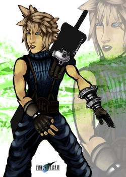 Portait Cloud Strife by Sig17gm