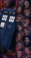 Doctor Who Bookmark Illustrations by Maylar