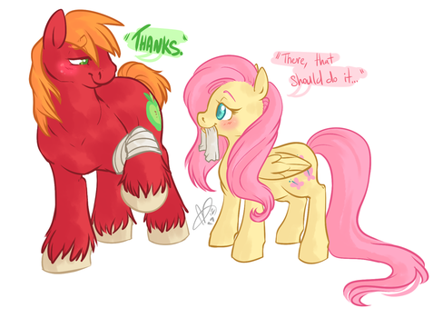 Bandage Mac and Shy by CloverCoin