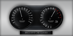 Exclusive Car clocks by Lukezz
