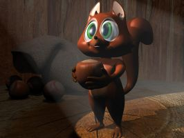 Cartoon squirrel 3D by 3DSud