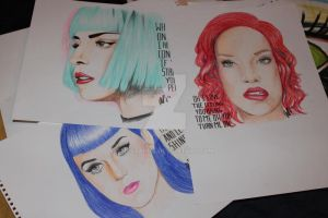 Gaga, Katy Perry, Rihanna by McStAr182