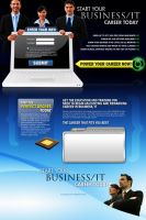 Business and IT Landing Page by kapdesign