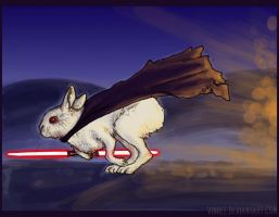 Sith Bunny Lord of Doom by vinree