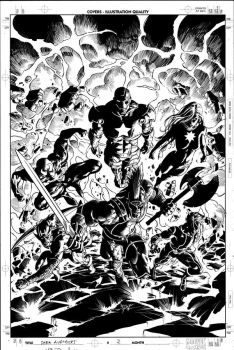 Dark Avengers 2 Cover Pencil by MikeDeodatoJr