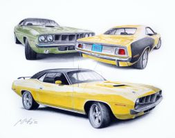 Plymouth Barracuda 1971 multi by Mipo-Design