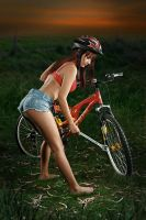 Fixing the bike. by robwooly