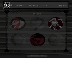 Grey, Black and White Wireframe (Projects Page) by Llendowyn