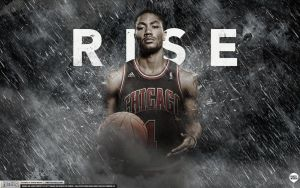Derrick Rose Rise Wallpaper by Angelmaker666