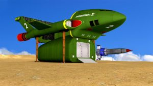 Thunderbird 1 And 2 Landed by PUFFINSTUDIOS