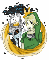 TP-Midna and Link by CrystleIceFire