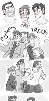 Gravity Falls Mystery Trio by MadJesters1