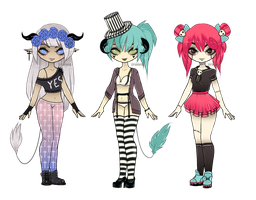 Alternative fashion [Adoptables] CLOSED by Siraviena