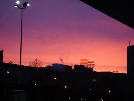 Red Dawn Over Minneapolis by LittleBigDave