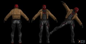 Red Hood mesh mod WIP by lonelygoer