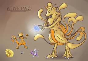 Pokemon Fusion: Ninetwo by Sophalone