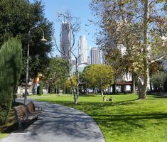 Grand Hope Park in Downtown Los Angeles by ShipperTrish