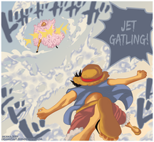 One Piece 745 - Jet Gatling ~~!! by Shinsekai94