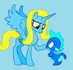 Shine and Andy True Blue Cousins by Eli-J-Brony
