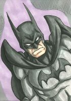 Batman Sketch Card by ibroussardart
