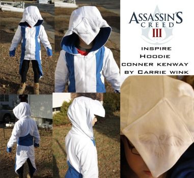 inspire assassin creed 3 connor kenway hoodie by neoangelwink