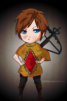 Daryl Dixon Chibi by IsidithRose