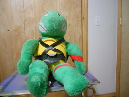 My first stuffed Raphael. by Flutterflyraptor