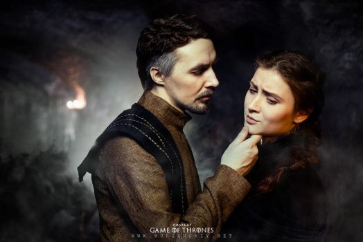 Petyr Baelish and Sansa Stark by Almost-Human-Cosband