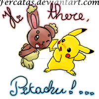 Hi there pikachu by fercatas