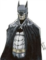 Late night Batman sketch by KevinWatzlawik
