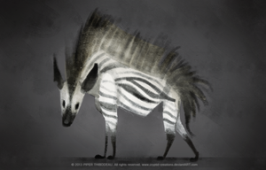 DAY 344. Striped Hyena by Cryptid-Creations