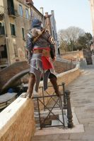 Ezio Hanging over a rail in venice by eyes1138
