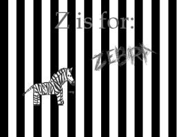 z is for zebra wallpaper by butterflywisper