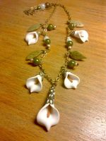 Calla Lillies Necklace by sississweets