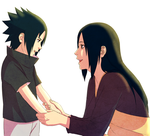 Sasuke and Mikoto by steampunkskulls