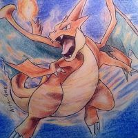 Mega Charizard Y by ArtzxGeek