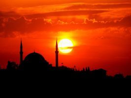 sun and mosque by MehmetCelik