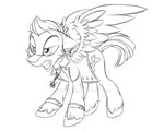 MLP: SPN Crossover Sketch: Dean Winchester V2 by Mychelle