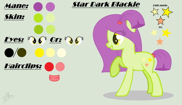 My OC: Star Dark Blackie (Update) by StarDarkMLP