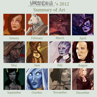 2012 Art Summary by Weissidian