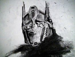 Optimus Prime by geekyglassesartist