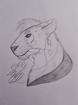 Realistic Xenitar Head Doodle by Cookiedough-Gecko