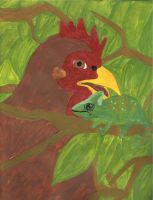 Chicken and the Chameleon by AnnieHoppe