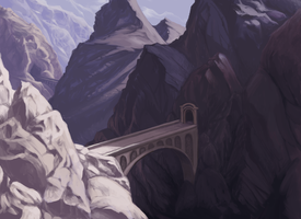 The Mountain Pass by Petrichora