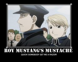 Roy Mustangs Mustache by EmoxCursexGrl92