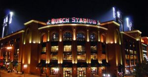 Busch Stadium at Night by SplitSecondStudio