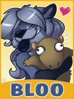 Bloo Badge by zillabean