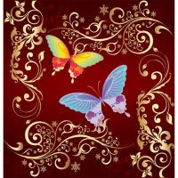 butterfly weadding card title by cgvector